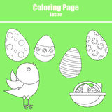 Coloring page. Easter Stock Image