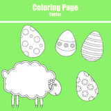 Coloring page. Easter Stock Images