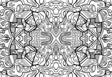 Coloring page fantasy pattern with maze fantastic abstract ornaments. Psychedelic stylish card