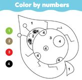 Coloring page with ladybug. Color by numbers printable activity. Children educational game. Coloring page with ladybug. Color by numbers, printable activity for stock illustration