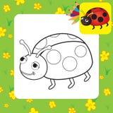 Coloring page. Ladybug Stock Photography