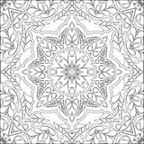 Coloring page mandala royalty free illustration