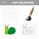 Coloring page outline of cartoon snail. Vector illustration, coloring book vector illustration
