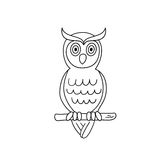 Coloring page outline of owl Royalty Free Stock Photo