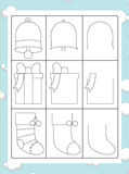 The coloring page with pattern - illustration for the kids Royalty Free Stock Photography