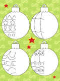 The coloring page with pattern - illustration for the kids Royalty Free Stock Photo