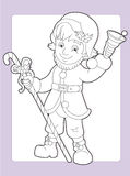 The coloring page with pattern - illustration for the kids Stock Photo