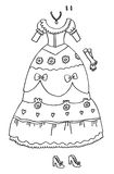Coloring Page - Princess Wardrobe. Line illustration fun to color for little girls Stock Photos