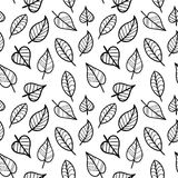 Coloring Page Seamless Pattern with Fall. Royalty Free Stock Photos