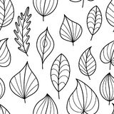 Coloring Page Seamless Pattern with Fall. Stock Images