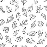 Coloring Page Seamless Pattern with Fall. Royalty Free Stock Photography