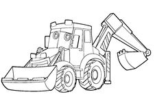Coloring page - vehicle - illustration for the children Royalty Free Stock Photo