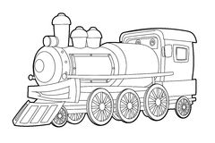Coloring page - vehicle - illustration for the children. Beautiful vehicle coloring page for children stock illustration