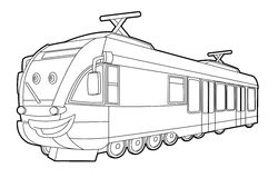 Coloring page - vehicle - illustration for the children Royalty Free Stock Photos