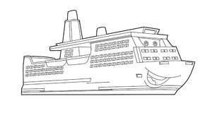 Coloring page - vehicle - illustration for the children Stock Images