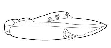 Coloring page - vehicle - illustration for the children Stock Image