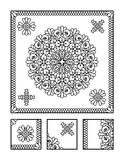Coloring page and visual puzzle for adults Royalty Free Stock Photo