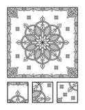 Coloring page and visual puzzle for adults Stock Photo