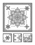Coloring page and visual puzzle for adults Royalty Free Stock Images