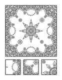 Coloring page and visual puzzle for adults Royalty Free Stock Photography