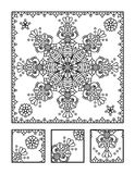 Coloring page and visual puzzle for adults Royalty Free Stock Photos