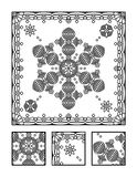 Coloring page and visual puzzle for adults Stock Photos