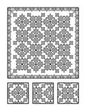 Coloring page and visual puzzle for adults Stock Images