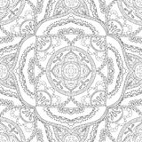 Coloring pages for adults.Decorative hand drawn doodle nature ornamental curl vector sketchy seamless pattern. Stock Photos
