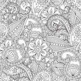 Coloring pages for adults.. Seamless pattern.Henna Mehndi Doodles Abstract Floral Paisley Design Elements, Mandala,Vector Illustration. Coloring book. Coloring Stock Photos