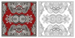 Coloring pages, coloring book for adults, authentic carpet desig royalty free stock photos