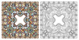 Coloring pages, coloring book for adults, authentic carpet desig royalty free stock images