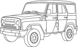 Coloring pages for kids cars. Decoration Royalty Free Stock Photos