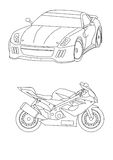 Coloring pages for kids cars Stock Photo