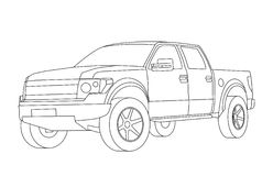 Coloring pages for kids cars Royalty Free Stock Photos