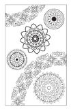 Coloring pages. Round Ornament Vintage decorative elements. Blak and white. Stock Photos