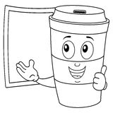 Coloring Paper Coffee Cup with Blackboard Royalty Free Stock Photos