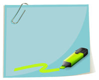 A coloring pen in front of the big empty paper Stock Images