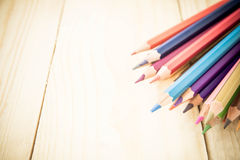 Coloring Pencil Different From The Crowd Stepping Up Royalty Free Stock Image