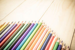 Coloring Pencil Different From The Crowd Stepping Up Royalty Free Stock Images