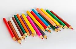 Coloring pencil set Stock Photos