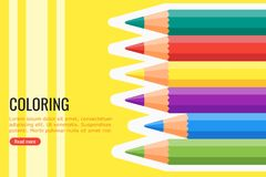 Coloring Pencil Vector and Background vector illustration