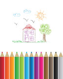 Coloring pencils Royalty Free Stock Photos