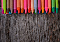 Coloring pencils aligned Royalty Free Stock Photos