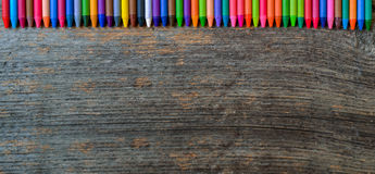Coloring pencils aligned Royalty Free Stock Image