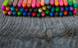 Coloring pencils aligned Royalty Free Stock Images
