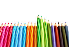 Coloring pencils border stock photography