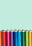 Coloring Pencils With Copy Space Royalty Free Stock Image