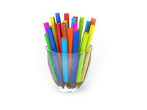 Coloring pencils in glass Royalty Free Stock Images