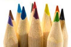 Coloring Pencils Macro royalty free stock photo