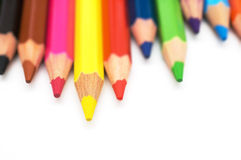 Coloring pencils tips Stock Image